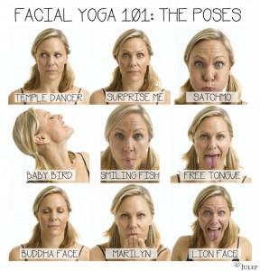 Poses yoga facial
