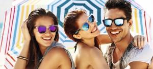 Gafas de sol con cristales espejados