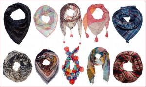 Complementos de moda bufandas y fulares
