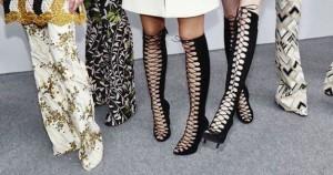 Zapatos con cinta romana